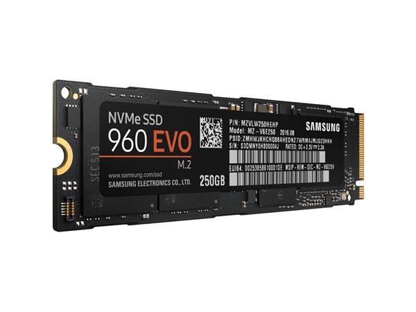 Samsung SSD 960 EVO Series 250GB M.2 PCIe, r3200MB/s, w1500MB/s