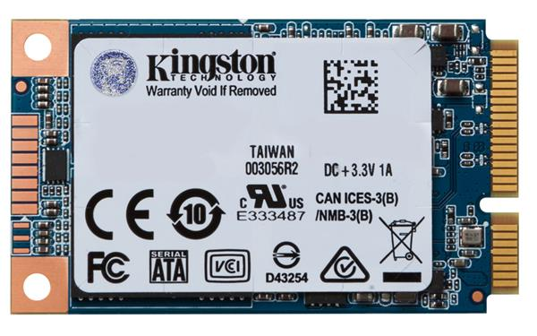 Kingston 480GB SSDNow UV500 Series mSATA Series SATA3 (6Gbps), ( r520MB/s, w500MB/s )