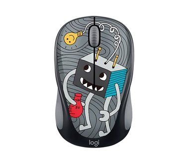 LOGITECH Wireless Mouse M238 - Doodle Collection -, BEZ KRABICE, POUZIVANE