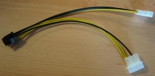 Redukcia 6 PIN pre napájanie PCI-E VGA karty (zo zdroja)