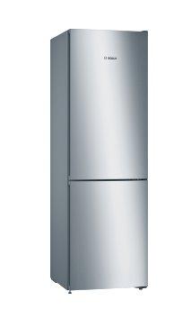 BOSCH_Chladnicka 186 cm, chlad. 237l, mraz. 87l, 173 kWh/365 dní, LED-displej, NoFrost, VitaFresh, A+++, InoxLook