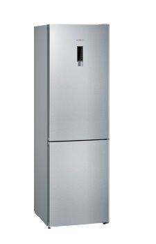 SIEMENS_Chladnicka 186 cm, chlad. 237l, mraz. 87l, 260 kWh/365 dní, displej vo dverách, NoFrost, hyperFresh, A++, nerez