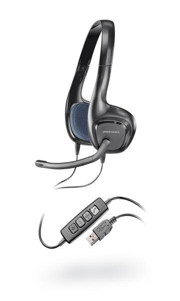 Plantronics Audio 628 Headset - slúchadlá s mikrofónom, DSP, USB, čierne