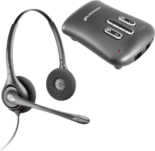 Plantronics SUPRAPLUS DIGITAL náhlavná súprava na obe usi so sponou + Vista Plus Digital Amplifier