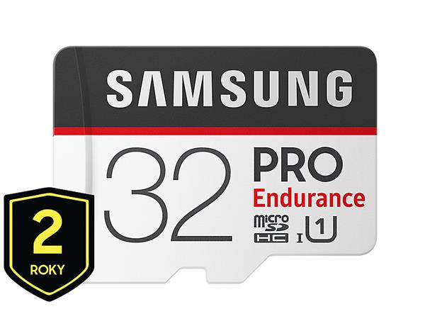 32 GB . microSDHC karta Samsung PRO Endurance + adaptér