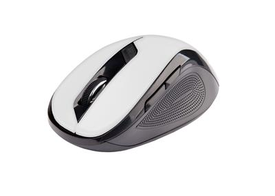 C-Tech myš WLM-02 čierno-biela, bezdrôtová, 1600DPI, USB. Nano receiver, wireless