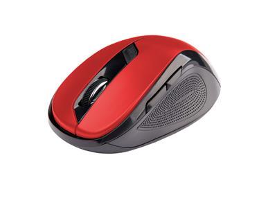 C-Tech myš WLM-02 čierno-červená, bezdrôtová, 1600DPI, USB. Nano receiver, wireless