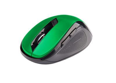 C-Tech myš WLM-02 čierno-zelená, bezdrôtová, 1600DPI, USB. Nano receiver, wireless