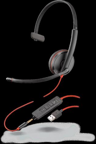 Plantronics BLACKWIRE C3215 USB-A, slúchadlá na jedno ucho