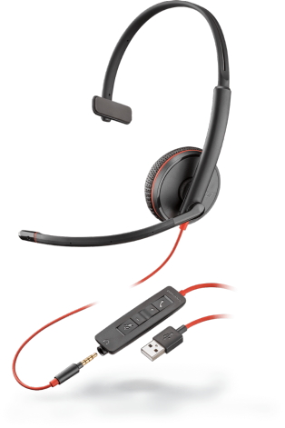 Plantronics BLACKWIRE C3215 headset Mono, USB-A, 1 x 3.5 mm miniJack