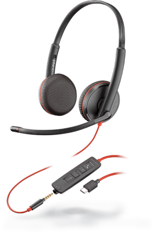 Plantronics BLACKWIRE C3225 USB-C náhlavná súprava na obe uši, Stereo