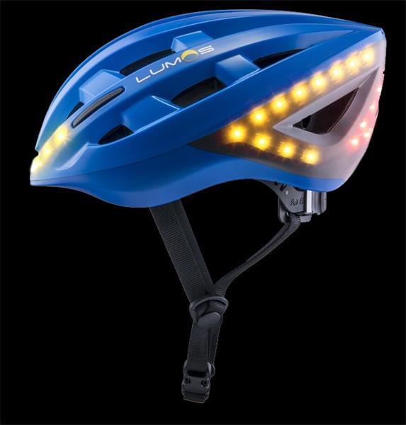 LUMOS Smart Cyklo Prilba - 54-62cm, integrované smerové a brzdové svetlá, akumulátor- modrá