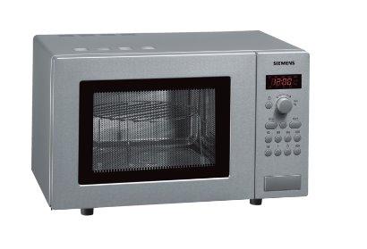 SIEMENS_800W mikrovlny, gril (1000 W),objem 17l, otočný tanier-průměr 24,5cm, váhová automatika, antikor