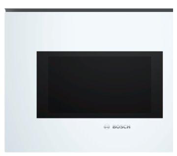 BOSCH_vstavaná mikrovlnná rúra, výkon max. 900W, 5 stupnou výkonu, objem 25l, otočný tanier 25,5cm, biela