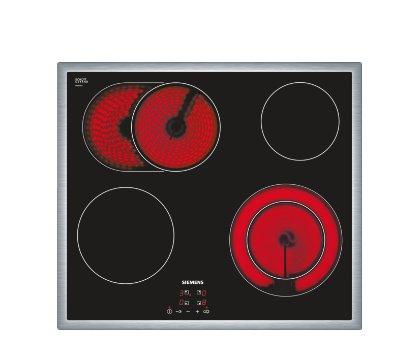 SIEMENS_60cm, senzor.ovl. touchControl, 4 highSpeed varné zóny - 1x dvojokruh, 1x zóna na pečenie; funkcia reStart