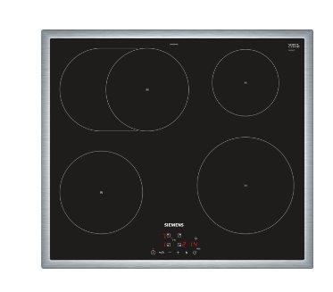 SIEMENS_60cm, antikoro rám, touchControl, 4 indukčné varné zóny s funkciou powerBoost vr.pečúce zóny,17 st výkonu, Timer