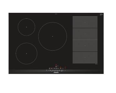 SIEMENS_indukčná doska 80cm, 5 indukčných varných zón (z toho 1x flexZone), touchSlider, ukazovateľ spotreby energie