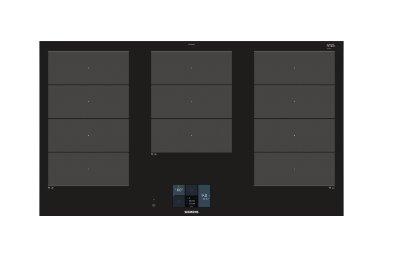 SIEMENS_indukčná doska 90cm, fazetový design, dotykový TFT displej, 3x flexZone, 5 indukčných zón