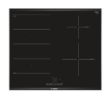 BOSCH_60cm, Komfort profil, 2 x indukčná zóna, 1 x flexindukcia, TouchSelect, Timer