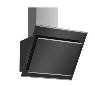 BOSCH_A, komínový odsávač pár, 60 cm, naklonený, čierny, sklenená doska, normálna prevádzka 400m3 / hod