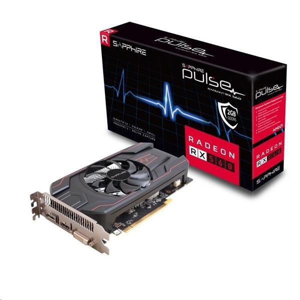 Sapphire Pulse Radeon RX 560 2GB/128bit GDDR5 HDMI DVI-D DP