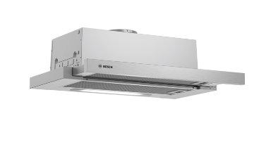 BOSCH_D, 60cm, výsuvný, 3 stupně, 360m3/h, 2x3W LED osvetlenie, kovový tukový filter je možné umývať v umývačke