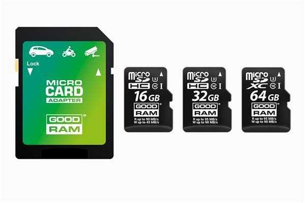 64 GB . microSDXC karta GOODRAM MLC U3 UHS-I + adapter
