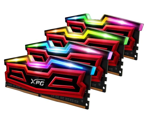 DDR 4.... 32 GB . 2666MHz. CL16 SPECTRIX D40 Red XMP Quad Color Box ( 4 x 8 GB )