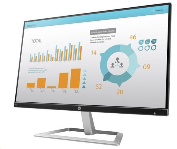 HP N240, 23.8, IPS/LED, 1920x1080 FHD, 1000:1, 5ms, 250cd, VGA/HDMI