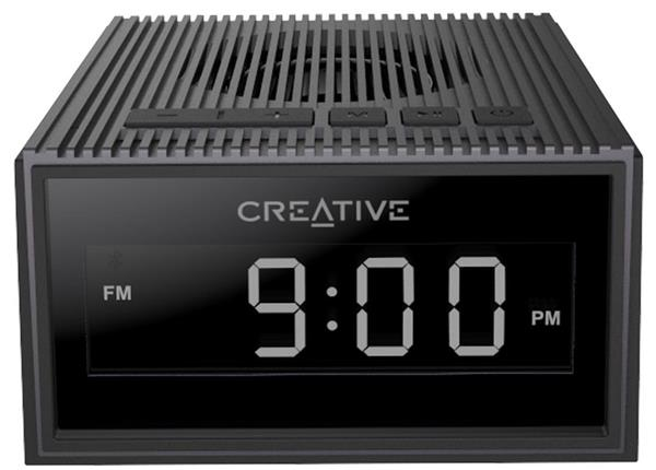 Creative CHRONO, 4v1, FM rádiobudík, bluetooth reproduktor, MP3 player, čierny