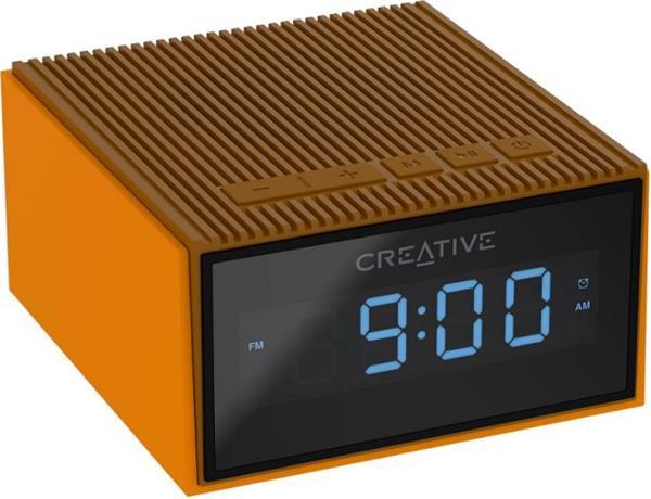 Creative CHRONO, FM rádiobudík, bluetooth reproduktor, brown
