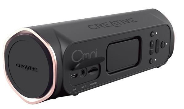Creative OMNI, black, Portable Multi-room Wi-Fi a Bluetooth reproduktor