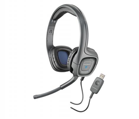 Plantronics Audio 655 slúchadlá s mikrofónom, DSP, USB, čierne