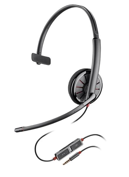 Plantronics BLACKWIRE C215, náhlavná súprava na jedno ucho so sponou