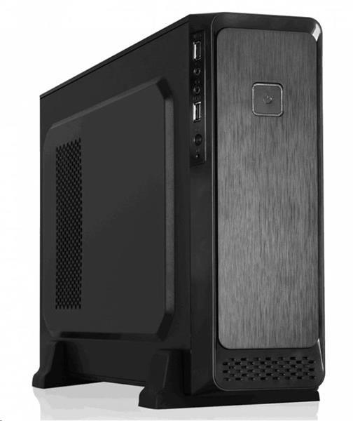Eurocase MC M08 skrinka mATX, bez zdroja, 2x USB2.0, čierna