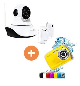 Canyon CNSS-KA1W sada indoor Wi-Fi HD IP kamera + senzory, bezpečnostný systém na dohľad domácnosti, biely