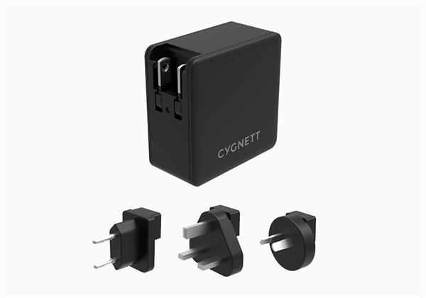 Cygnett PowerFloPlus nabíjačka do steny, 57W, Dual Port USB-C a USB-A, pre smartfóny, tablety, notebooky