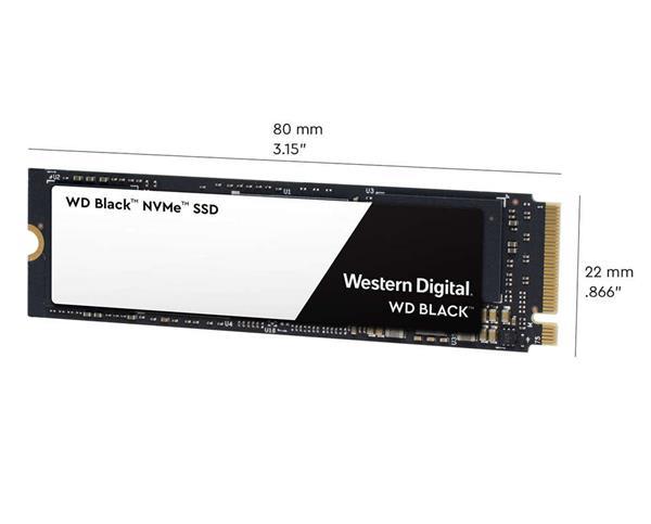 WD Black 500GB SSD PCIe Gen3 8 Gb/s, M.2 2280, NVMe ( r3400MB/s, w2500MB/s )