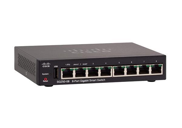 Cisco SG250-08 8-Port Gigabit Smart Switch
