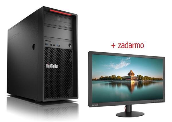 Lenovo TS P320 TWR i7-7700 4.2GHz NVIDIA P2000/5GB 16GB 1TB+256GB SSD DVD W10Pro cierny 3y OS