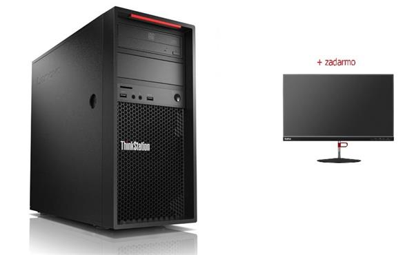 Lenovo TS P520c TWR W-2125 4.0GHz NVIDIA P1000/4GB 8GB 256GB SSD DVD W10Pro cierny 3y OS
