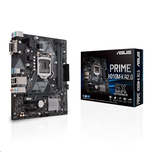 ASUS PRIME H310M-K R2.0 soc.1151 H310 DDR4 mATX D-Sub DVI