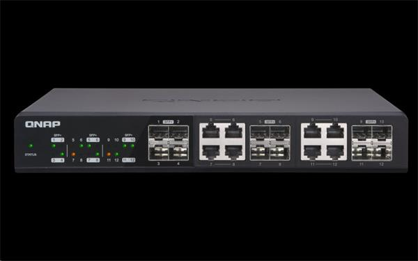 QNAP™ QSW-1208-8C 12-port 10GbE unmanaged switch