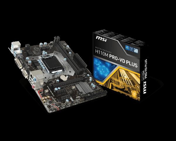 MSI H110M PRO-VD PLUS/IntelH110/LGA1151/DDR4/microATX VGA HDMI