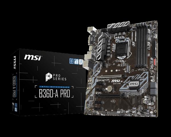 MSI B360-A PRO/Socket 1151/DDR4/USB3.1/DP/DVI-D/ATX