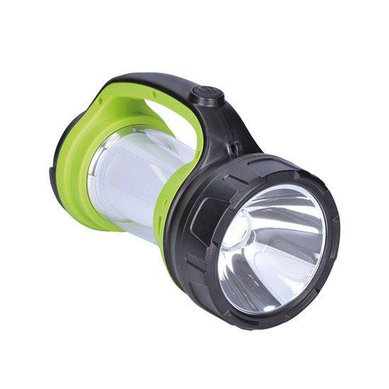 Solight nabíjacie LED svietidlo s lampášom, 3W Cree, 168lm + 200lm, kempingové, zeleno-čierna