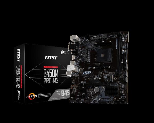 MSI B450M PRO-M2/Socket AM4/DDR4/USB3.1/DSUB/DVI-D/HDMI/RAID/mATX