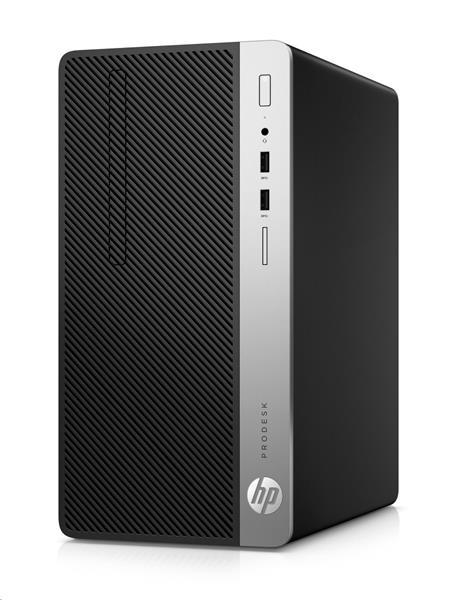 HP ProDesk 400 G5 MT, i3-8100, Intel HD, 8GB, 256 GB SSD, DVDRW, W10Pro, 1y