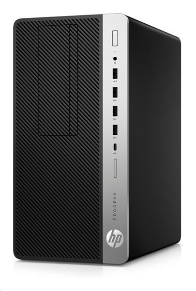 HP ProDesk 600 G4 MT, i5-8500, IntelHD, 8GB, 256GB SSD, DVDRW, W10Pro, 3y