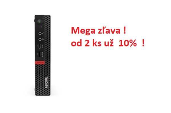 Lenovo TC M720 Tiny i3-8100T 3.1GHz UMA 4GB 128GB SSD W10Pro cierny 3yOS